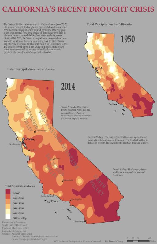 Cartography California Map