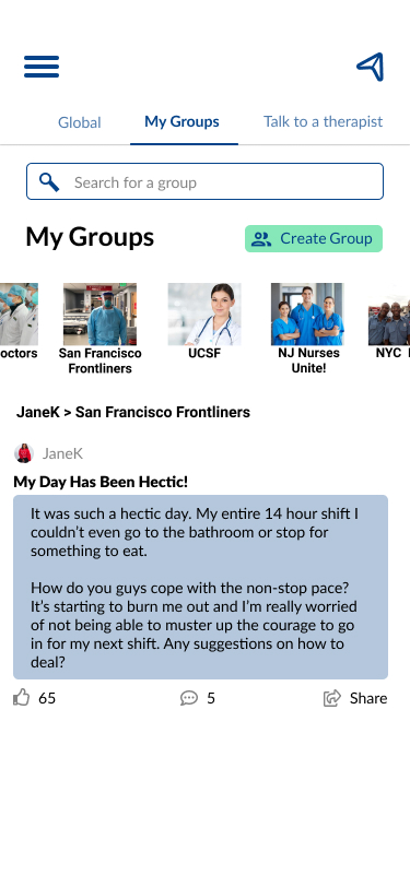 My Groups Page