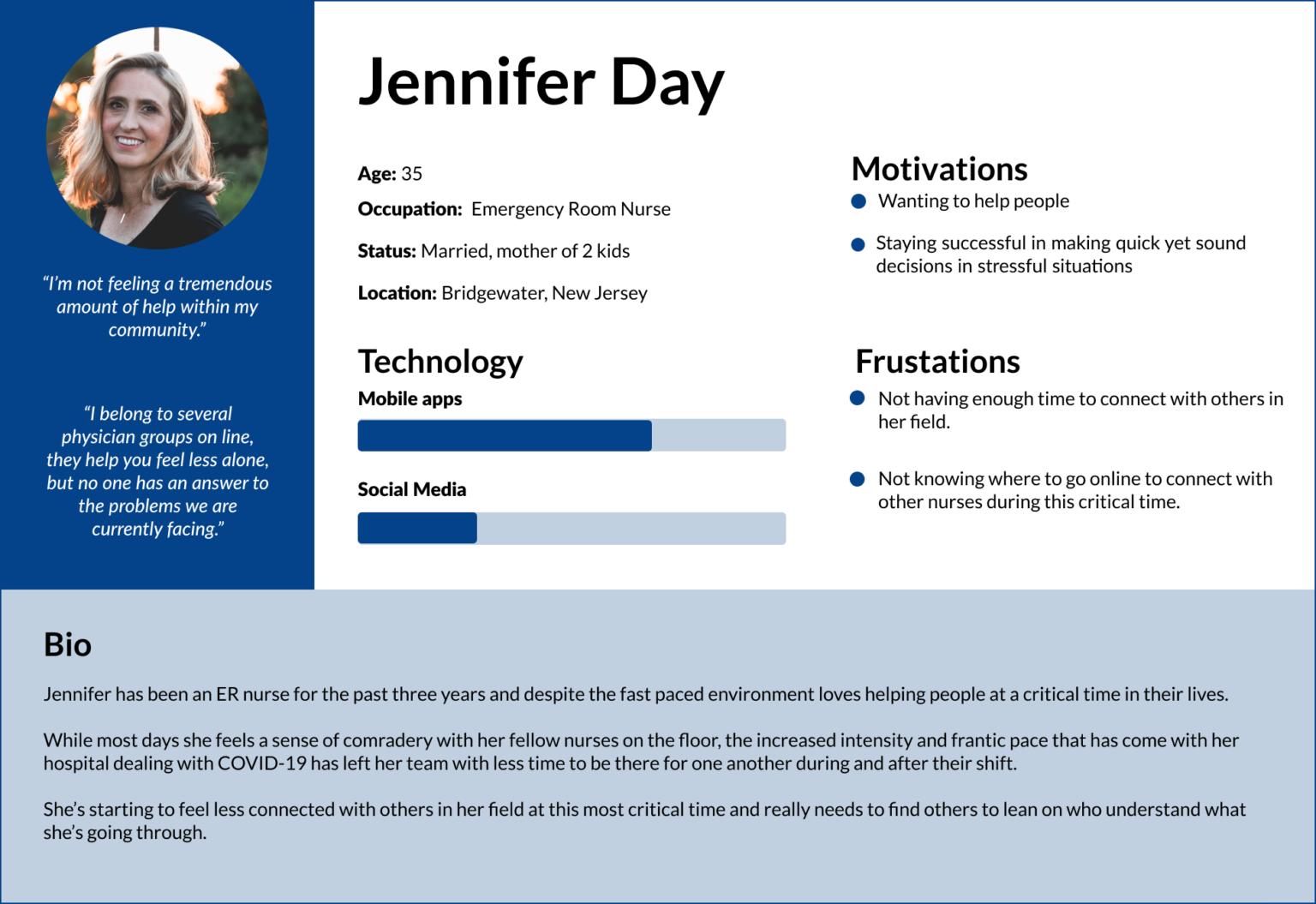 Jennifer Day User Persona