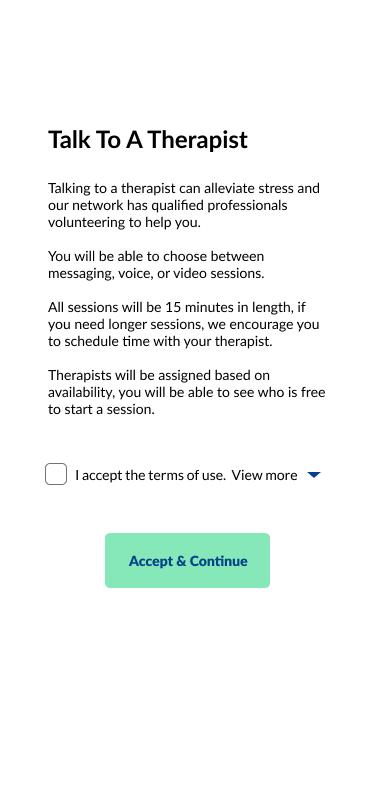 Talk to a Therapist Overlay