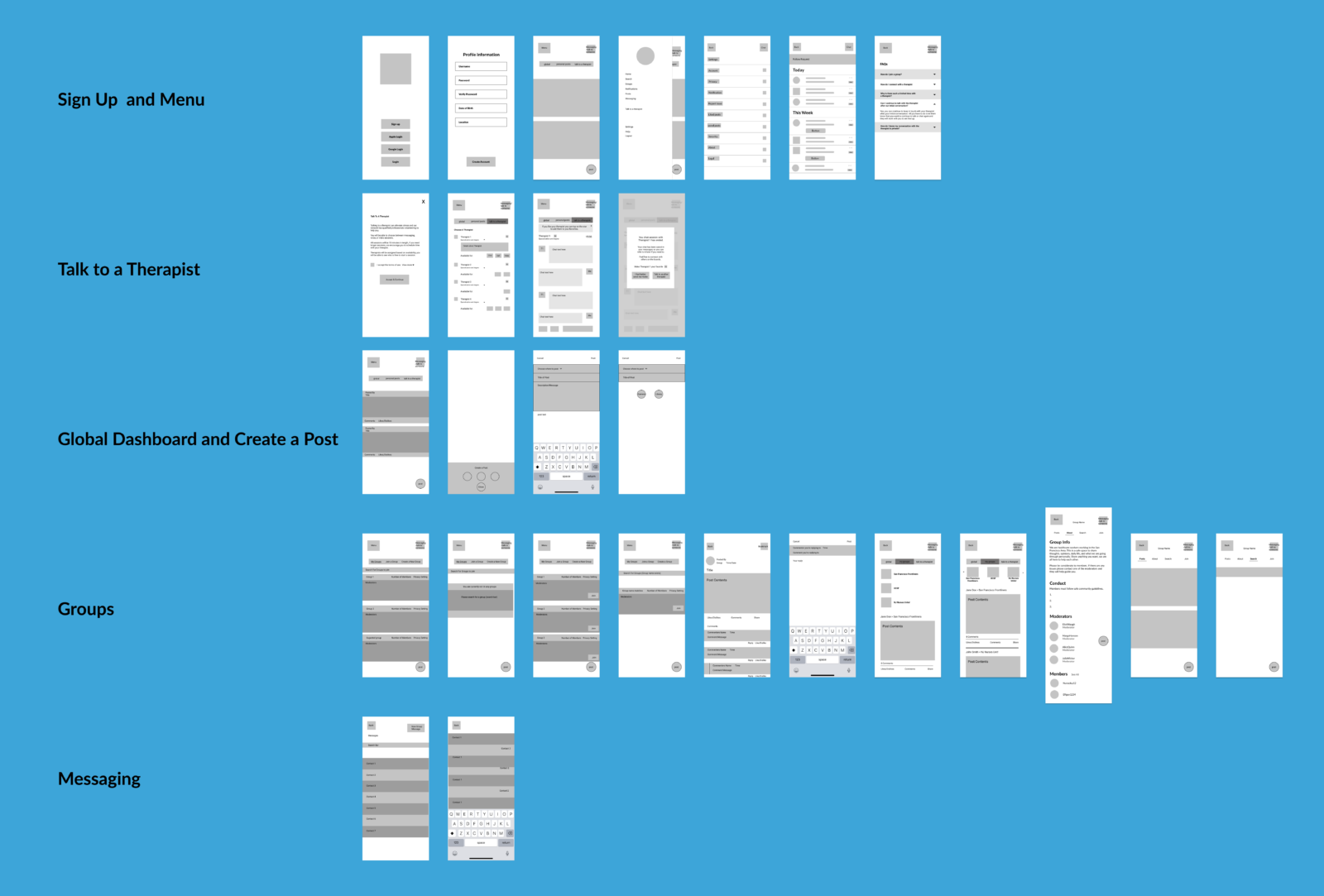 Frontline Check In Wireframe
